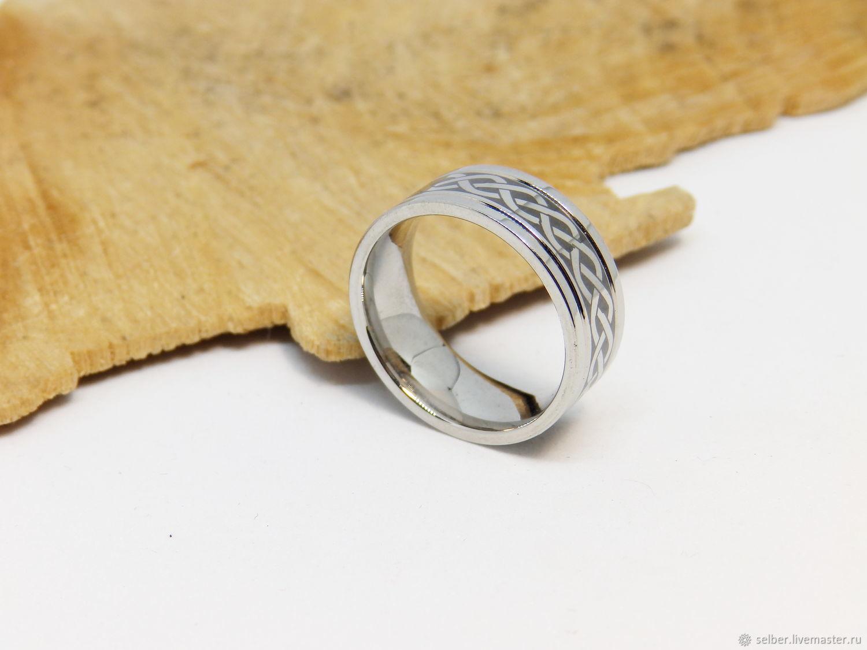 Кольцо стальное с орнаментом Кельтика 17.25, Кольца, Гатчина,  Фото №1