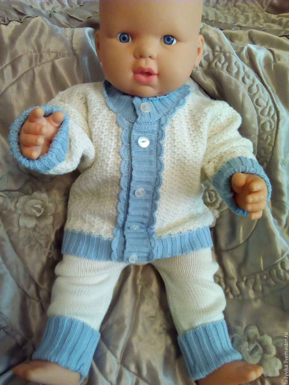 Вязать костюм для младенцев 92