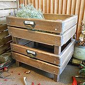 Кедровые ящики для кухни в стиле кантри.