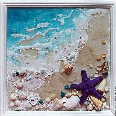 Картины и панно ручной работы. Ярмарка Мастеров - ручная работа «Морская волна». Handmade.