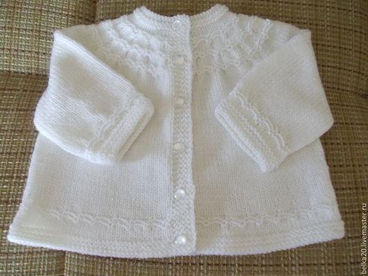 Одежда для мальчиков, ручной работы. Ярмарка Мастеров - ручная работа. Купить Кофточка для малыша.. Handmade. Однотонный, белая кофточка
