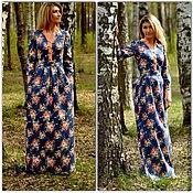 Одежда ручной работы. Ярмарка Мастеров - ручная работа Длинное платье в цветочек. Handmade.