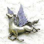 Винтаж handmade. Livemaster - original item Pegasus brooch, Jonette Jewelry, JJ, USA, horse, horse, mythological creature. Handmade.