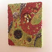 Композиции ручной работы. Ярмарка Мастеров - ручная работа Панно настенное флористическое Осеннее настроение. Handmade.