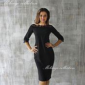 Одежда ручной работы. Ярмарка Мастеров - ручная работа Последний р-р-42-44!Элегантное черное платье с французским кружевом. Handmade.