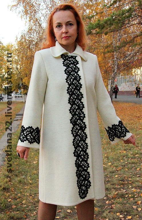 фото пальто вязаные