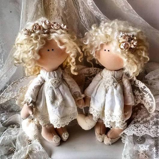 Коллекционные куклы ручной работы. Ярмарка Мастеров - ручная работа. Купить Ангел-хранитель 2. Handmade. Бежевый, интерьерная кукла
