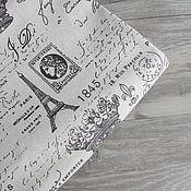 Ткани ручной работы. Ярмарка Мастеров - ручная работа Ткань лен натуральный 50х50см, Французская Республика, коричневый, 248. Handmade.