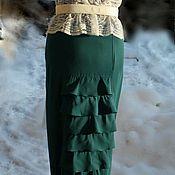 Одежда ручной работы. Ярмарка Мастеров - ручная работа Юбки в пол из габардина на подкладке из натурального хлопка. Handmade.