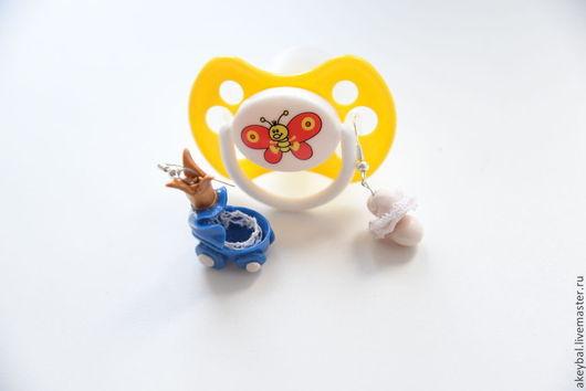 """Серьги ручной работы. Ярмарка Мастеров - ручная работа. Купить Серьги """"В ожидании чуда"""". Handmade. Синий, серьги"""