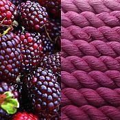 Материалы для творчества ручной работы. Ярмарка Мастеров - ручная работа Градиент. 100% шёлк ручной окраски- Boysenberry. Handmade.