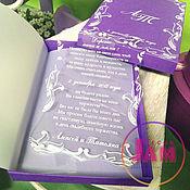 Приглашения ручной работы. Ярмарка Мастеров - ручная работа Свадебное приглашение в индивидуальной коробочке. Handmade.