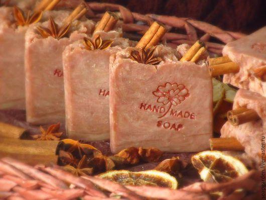 Мыло ручной работы. Ярмарка Мастеров - ручная работа. Купить Натуральное мыло Глинтвейн, с нуля, на вине, со специями. Handmade.