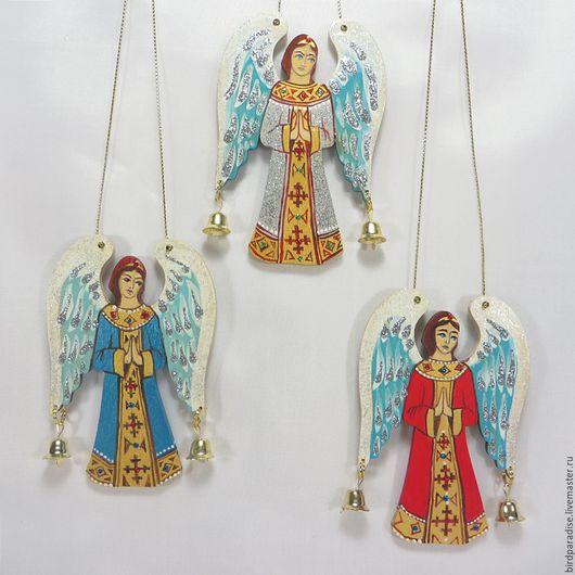 Новогодний ангел из дерева  на ёлку .Ёлочное украшение.Подарок на новый год.Новогодний сувенир.