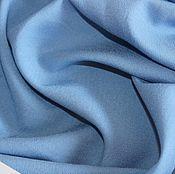 Материалы для творчества ручной работы. Ярмарка Мастеров - ручная работа Плательно-блузочный вискозный крепдешин стрейч цвет голубой. Handmade.
