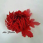 Цветы и флористика ручной работы. Ярмарка Мастеров - ручная работа Хризантема Sati. Handmade.