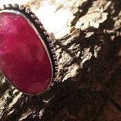 Украшения ручной работы. Ярмарка Мастеров - ручная работа кольцо 18 Рубин натуральный. Handmade.