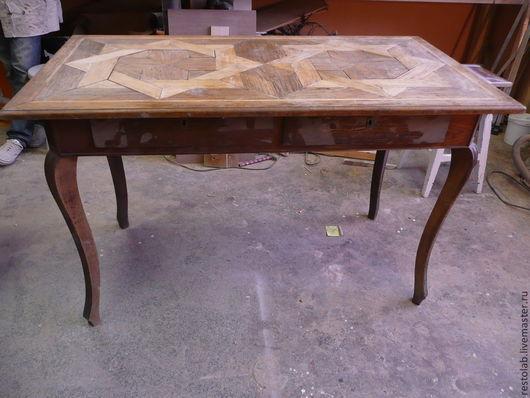 """Реставрация. Ярмарка Мастеров - ручная работа. Купить Реставрация старинного стола стиля """"паркетри"""". Handmade. Реставрация мебели, старинная мебель"""