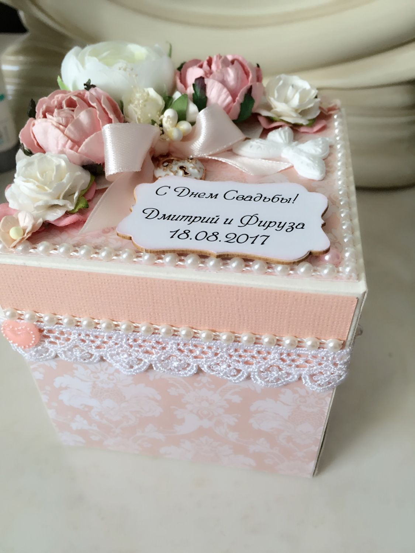 коробка с деньгами на свадьбу поздравление один