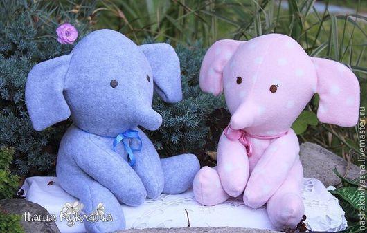 Игрушки животные, ручной работы. Ярмарка Мастеров - ручная работа. Купить Слоники с вишневыми косточками. Handmade. Слоники, слоненок, слоненок