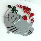 Для дома и интерьера ручной работы. Ярмарка Мастеров - ручная работа Часы Кот Обжора. Handmade.