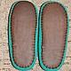 """Обувь ручной работы. Заказать Домашние тапочки """"Ветка рябины"""". GalinaVD. Ярмарка Мастеров. Тапочки из шерсти, тапочки из войлока"""
