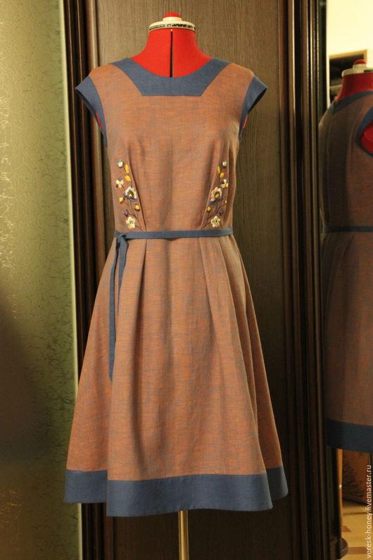 Платья ручной работы. Ярмарка Мастеров - ручная работа. Купить Платье с ручной вышивкой. Handmade. Комбинированный, ручная вышивка