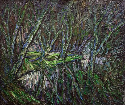 Малахитовый лес.(холст,масло) 85х100см. 2016г.создания.