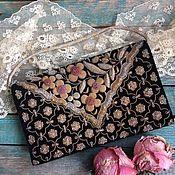 Винтаж handmade. Livemaster - original item Velvet`s evening bag with embroidery. Handmade.