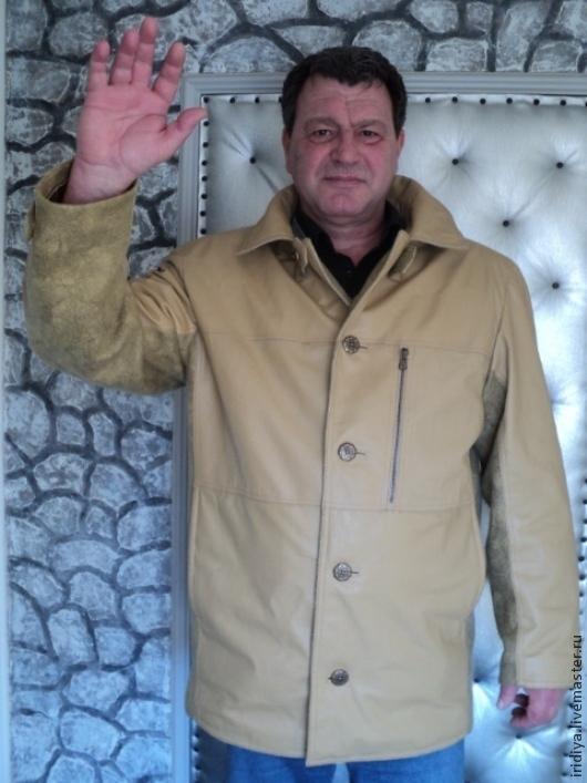 """Верхняя одежда ручной работы. Ярмарка Мастеров - ручная работа. Купить Мужское пальто """" Мой герой"""". Handmade. Бежевый"""
