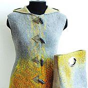 """Одежда ручной работы. Ярмарка Мастеров - ручная работа Жилет и сумка """"Солнце на сером"""". Handmade."""