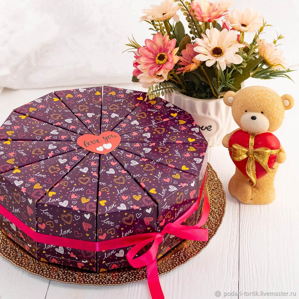 Бумажный торт, подарок девушке, сестре, дочке, 8 марта, любимой, Фотокартины, Белгород,  Фото №1