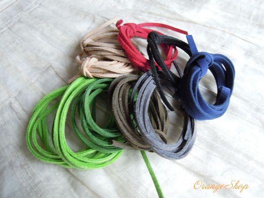 Для украшений ручной работы. Ярмарка Мастеров - ручная работа. Купить Шнур искусственная замша, 3 мм разные цвета. Handmade.
