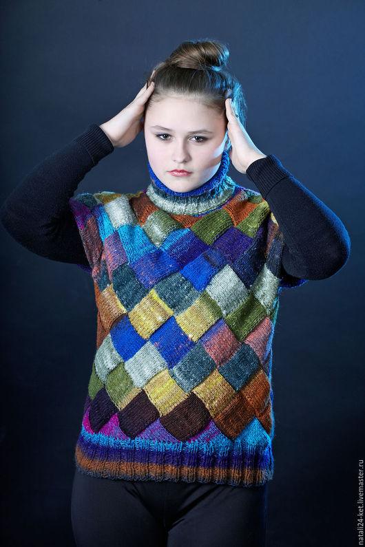 Кофты и свитера ручной работы. Ярмарка Мастеров - ручная работа. Купить Водолазка без рукавов норо. Handmade. Шерсть, жилет