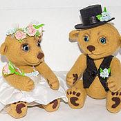 Куклы и игрушки ручной работы. Ярмарка Мастеров - ручная работа Свадебная пара Мишек. Handmade.