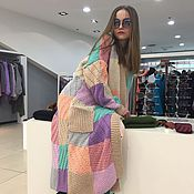 Одежда handmade. Livemaster - original item Colorful cardigan for girls in the shower. Handmade.