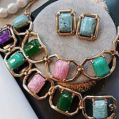 Винтаж handmade. Livemaster - original item Reja set-necklace, bracelet and clips, American vintage. Handmade.