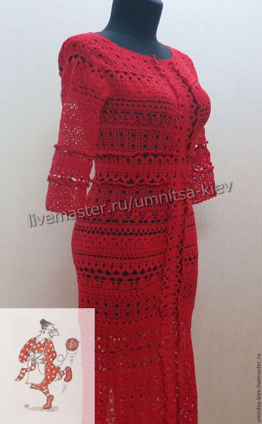Фото. Летнее вязаное платье «Калина» - еще один предмет из нашей новой круизной коллекции.