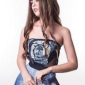 Одежда ручной работы. Ярмарка Мастеров - ручная работа Дизайнерское джинсовое платье. Handmade.
