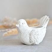 Для дома и интерьера handmade. Livemaster - original item Concrete candle holder Bird-Nevelichka, candle holder Easter. Handmade.