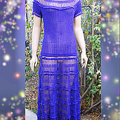 Одежда handmade. Livemaster - original item Knit dress crochet