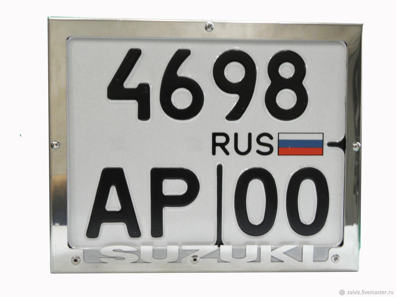 Рамка для номера Suzuki, Автомобильные сувениры, Щелково,  Фото №1