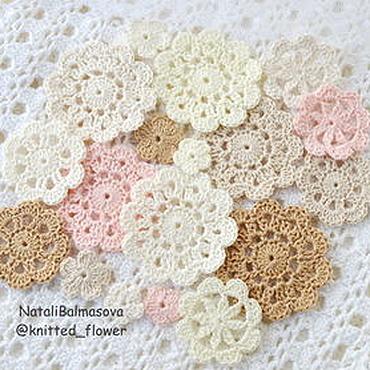 Materials for creativity handmade. Livemaster - original item A set of knitted decorations for scrap, etc. Handmade.
