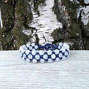 Украшения handmade. Livemaster - original item Agate blue. Bracelet braided. Handmade.