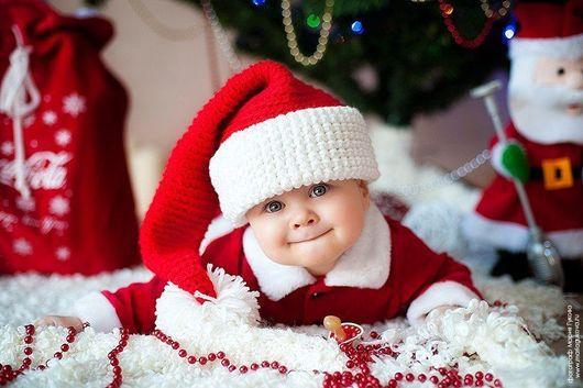 Для новорожденных, ручной работы. Ярмарка Мастеров - ручная работа. Купить Новогодний колпак. Handmade. Новогодний подарок, вязаная шапка