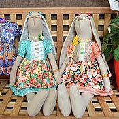 Куклы и игрушки ручной работы. Ярмарка Мастеров - ручная работа Текстильные зайчики Тильда.. Handmade.