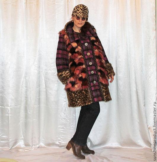 """Верхняя одежда ручной работы. Ярмарка Мастеров - ручная работа. Купить Шуба-пальто """"Верное сочетание"""". Handmade. Зимняя мода"""
