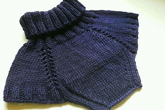 Шапки и шарфы ручной работы. Ярмарка Мастеров - ручная работа. Купить Темно-синяя манишка для мальчика. Handmade. Манишка