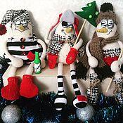 Куклы и игрушки ручной работы. Ярмарка Мастеров - ручная работа Пьяные Снеговики ;)). Handmade.