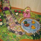 Куклы и игрушки ручной работы. Ярмарка Мастеров - ручная работа Сад цветочной феи - игровой коврик. Handmade.